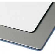 Kompozitný panel 3/0,21x1500x3050mm, biela matná/strieborná 9006 matná