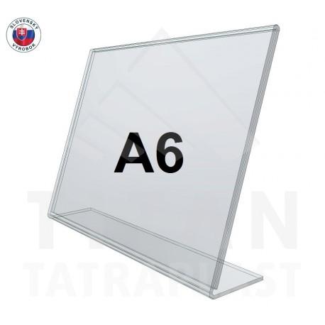 L - stojan z plexiskla A6