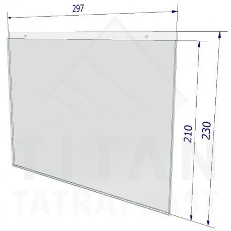 Závesná kapsa z plexiskla A4 - na výšku