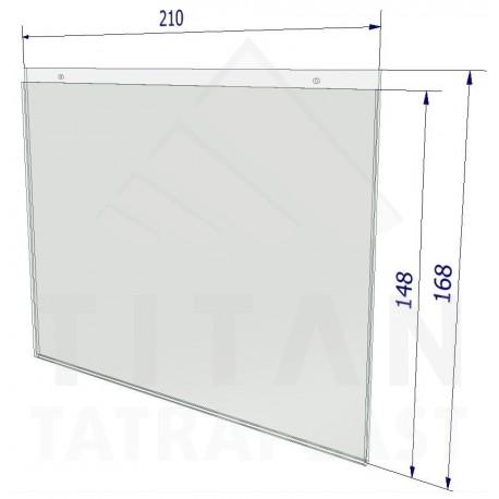 Závesná kapsa z plexiskla A5 - na šírku