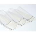 Polykarbonátový trapéz krupičkový SPECIAL, číry, 0,8mm, 76/18, UV2