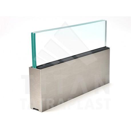 Samonos.AL prof. na sklo 45x122mm Inox BRUSH STEEL
