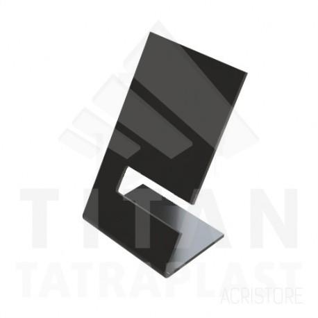 Stojan na hodinky z plexiskla - čierny