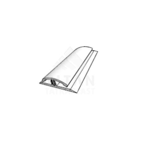 PVC H profil dl. - 3000mm