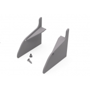 Set Platové Krytky - AL S profil (L+P+skrutky)