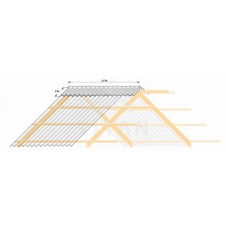 Polykarbonátový trapezový hrebenáč číry