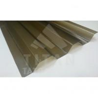 Polykarbonátový trapéz krupičkový PROFFI, Bronz, 1,3mm, 76/18, UV1