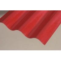 Sklolaminátová rola, hrúbka 0,8mm, vlna 76/18, červená, rola 30m