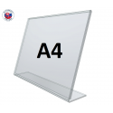 Plexi L - stojan A4 - na šírku