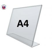 L - stojan z plexiskla A4