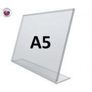 L - stojan z plexiskla A5
