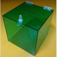 Box, urna z plexiskla TITAN, zelená - 3mm