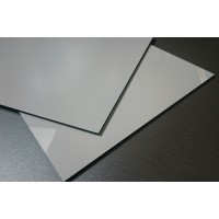 Kompozitný panel 3/0,21x1500x3050mm, biela lesklá/matná