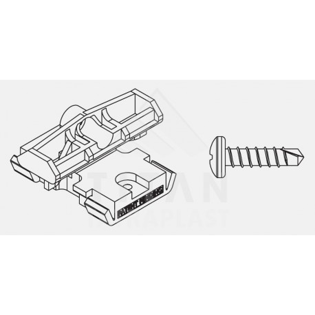 Bal. PVC spona P9528+skrutka P9546 pre AL profily