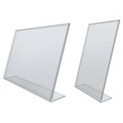 Stojany z plexiskla tvaru L