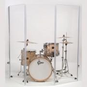 Akustické steny pred bicie z plexiskla